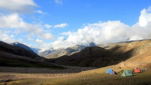 Jamaica's Camp near Chandrataal Lake, Spiti, Himachal Pradesh